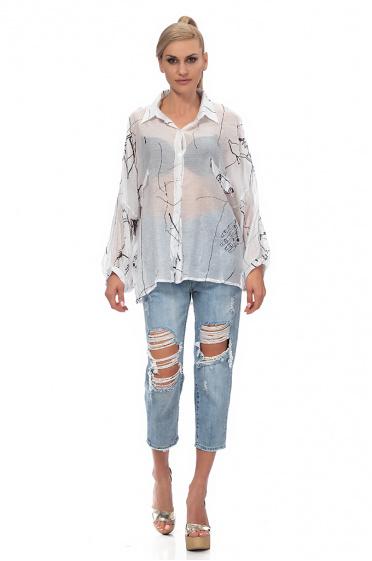 63c04da783c1 Γυναικείο πουκάμισο με στάμπα ...