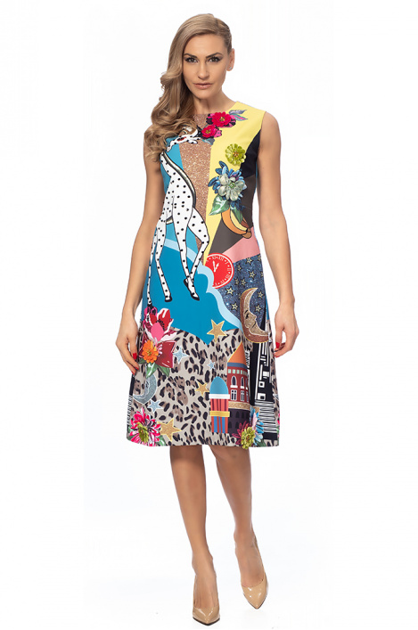 6de141c9eccb Γυναικείο φόρεμα με στάμπα - Moonstone.bg