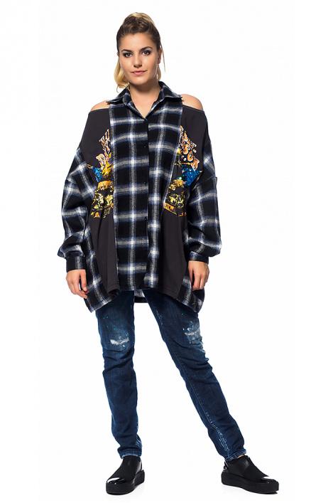 Γυναικείο πουκάμισο καρό - Moonstone.bg b714b0bac43