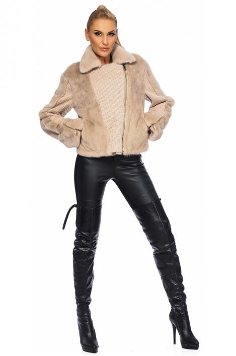 665954cfeaf Γυναικείο δερμάτινο παλτό από βιζόν - Moonstone.bg