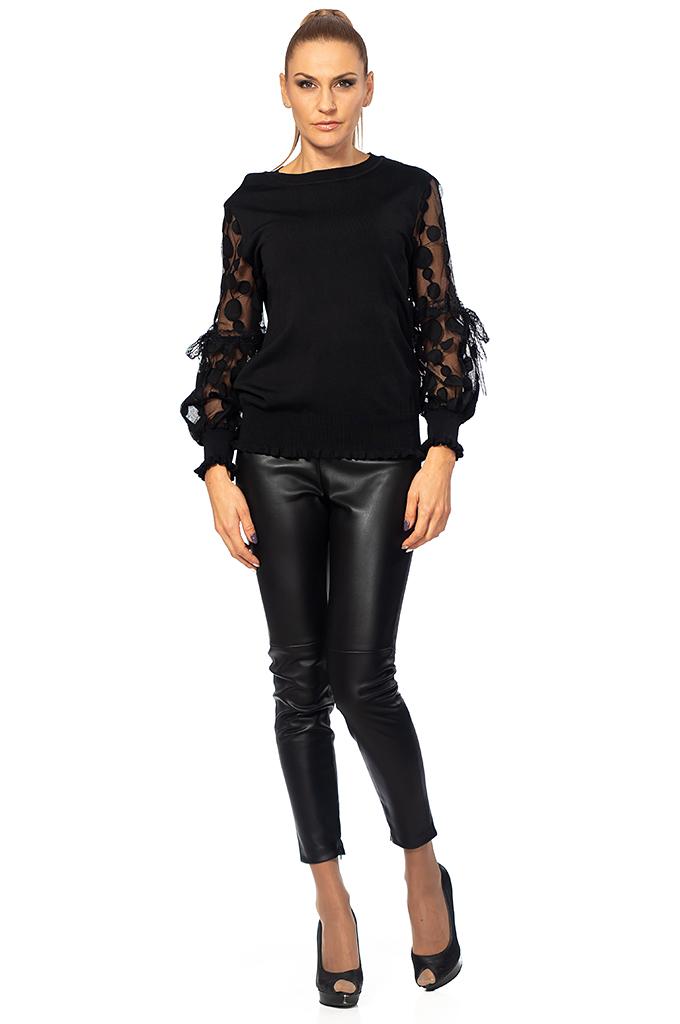 aeddf03ba5b3 Γυναικεία μπλούζα με δαντέλα και φιόγκο - Moonstone.bg