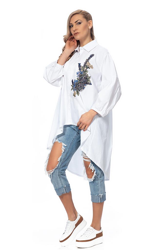 Γυναικείο πουκάμισο απλικέ - Moonstone.bg 2dbf34ad464