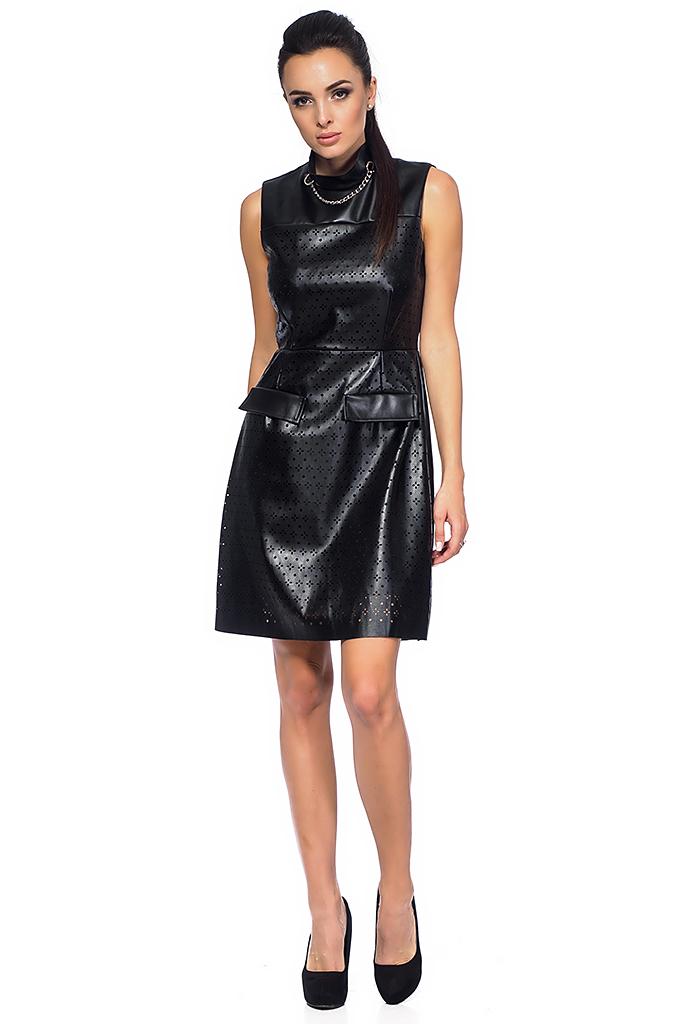 3abd8a24afa5 Γυναικείο δερμάτινο φόρεμα με τρύπες - Moonstone.bg