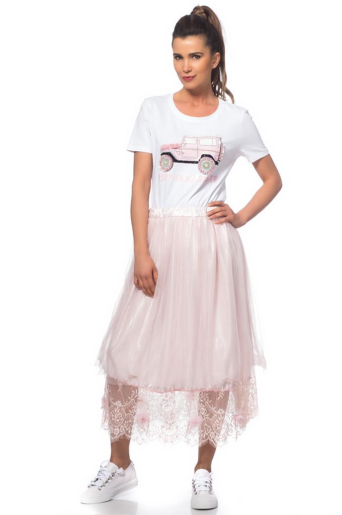 Γυναικεία πλισέ φούστα με δαντέλα - Moonstone.bg b35cbdba9bf